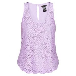 Talula Betty Lace Blouse in Lilac